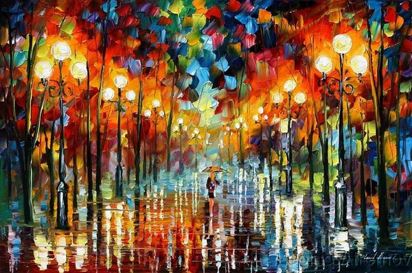 Modern impressionism palette knife oil painting kp020