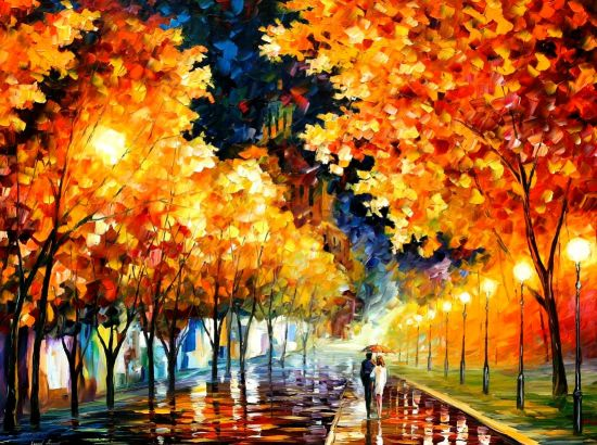 Modern impressionism palette knife oil painting kp022