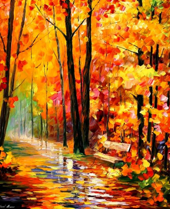 Modern impressionism palette knife oil painting kp026
