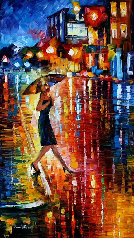 Modern impressionism palette knife oil painting kp028
