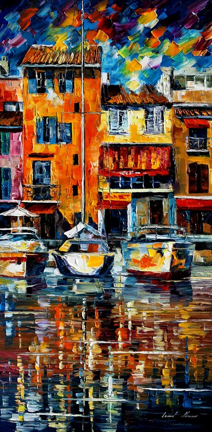 Modern impressionism palette knife oil painting kp031