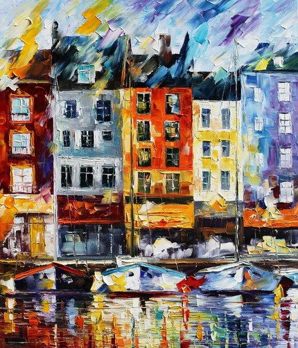 Modern impressionism palette knife oil painting kp040