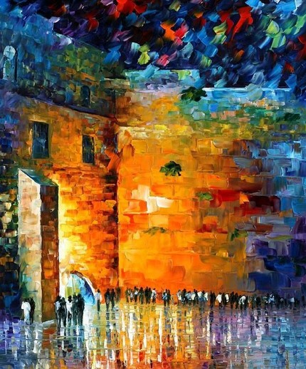Modern impressionism palette knife oil painting kp041