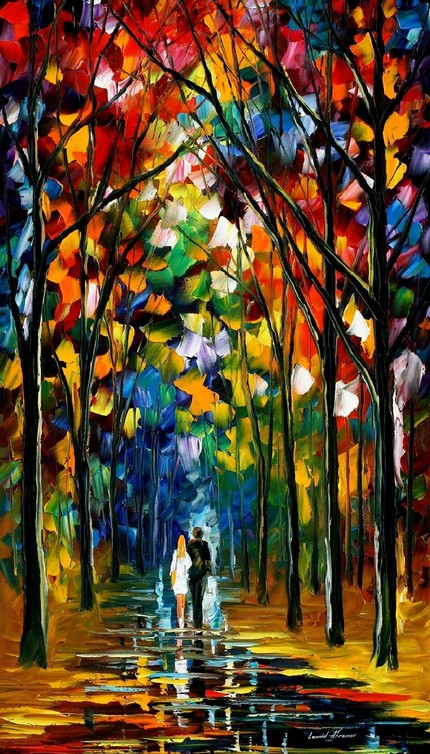 Modern impressionism palette knife oil painting kp053