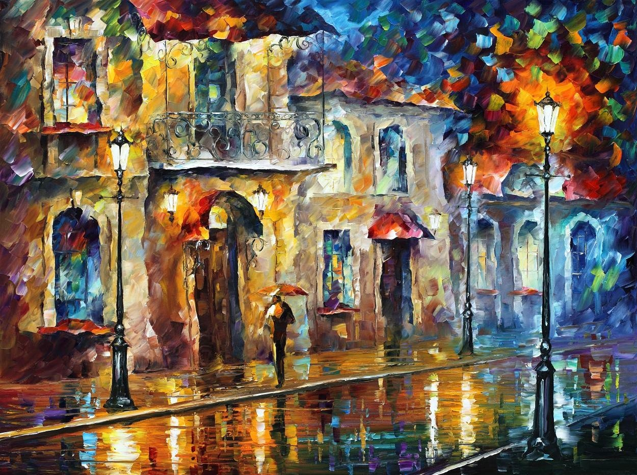 Modern impressionism palette knife oil painting kp064
