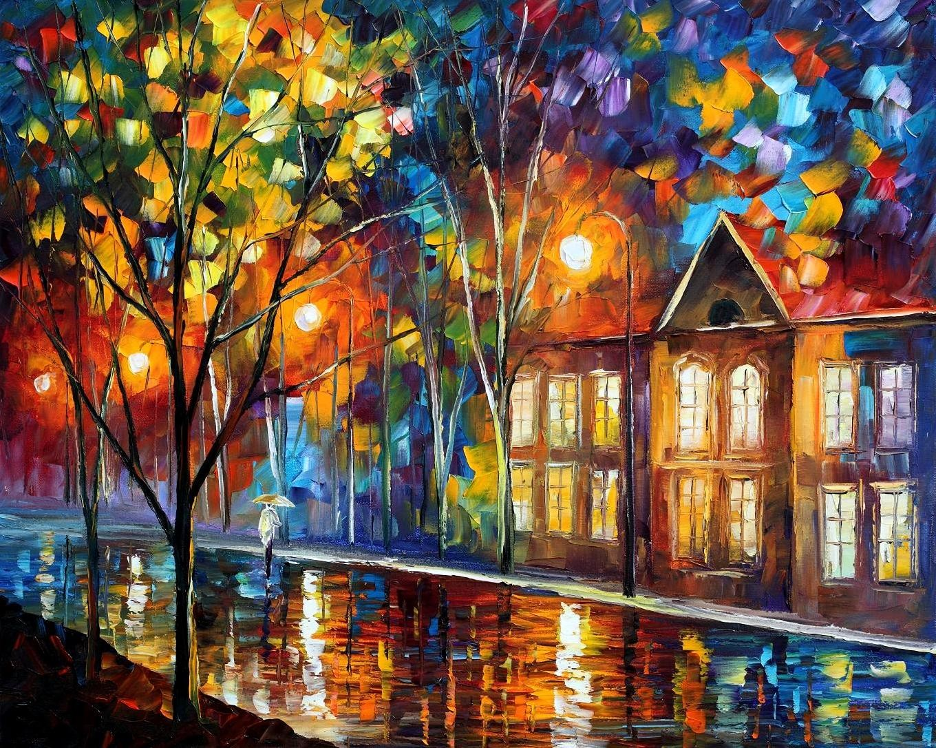 Modern impressionism palette knife oil painting kp078