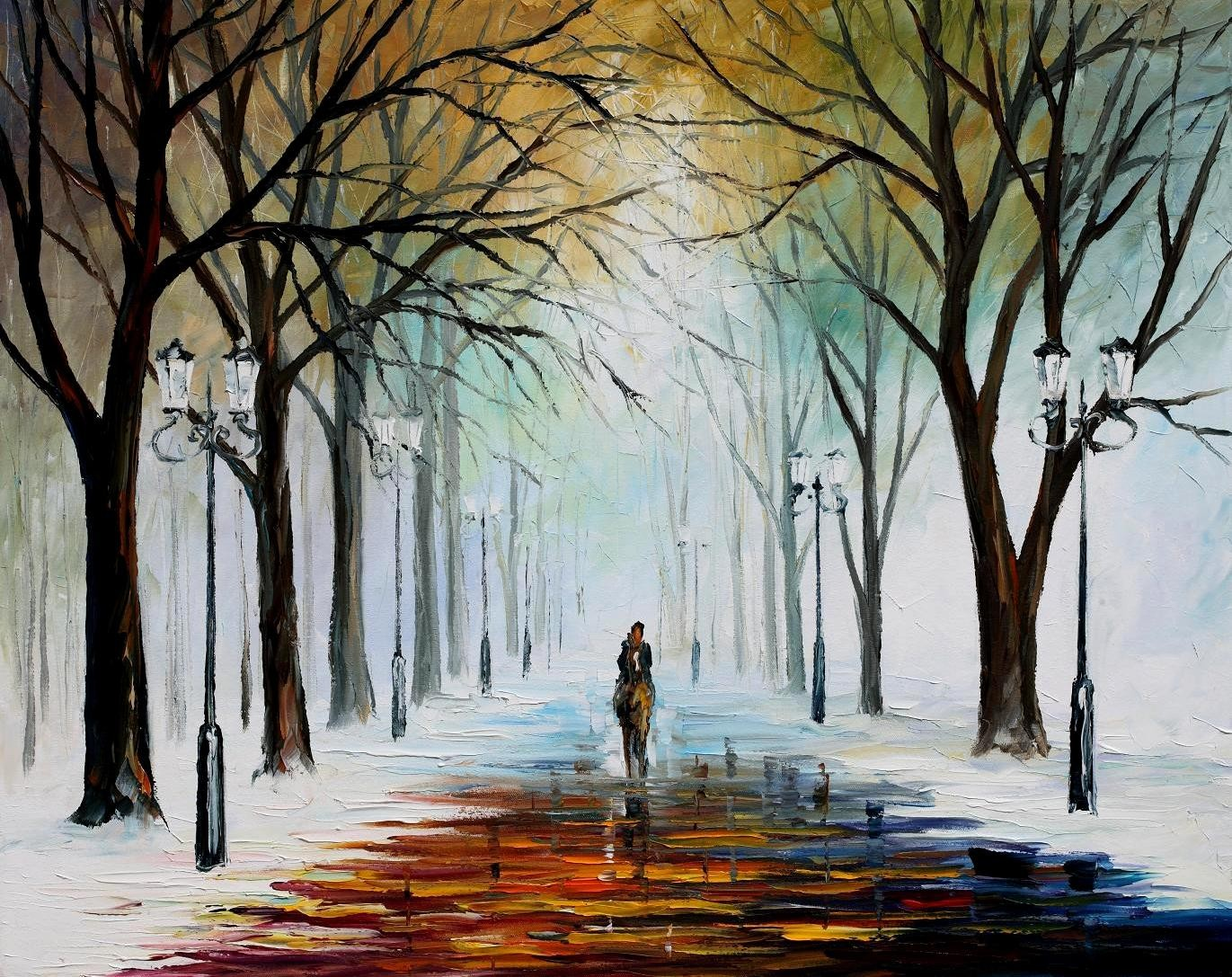 Modern impressionism palette knife oil painting kp080