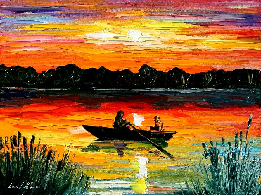 Modern impressionism palette knife oil painting kp088