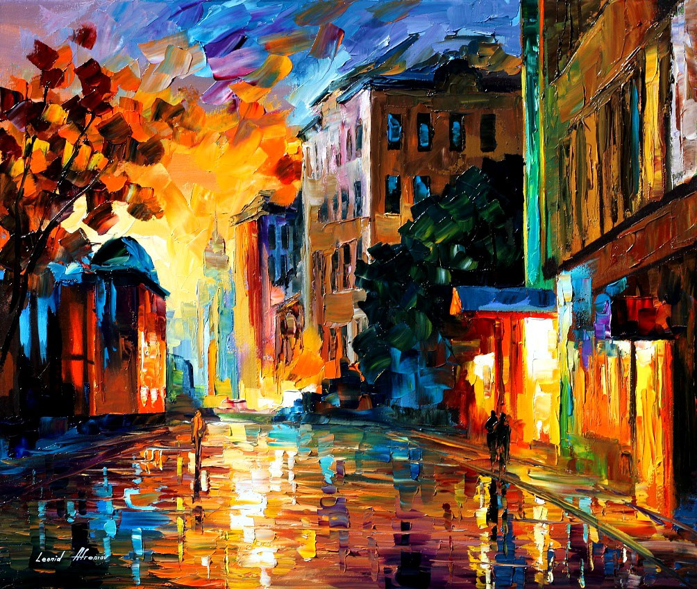 Modern impressionism palette knife oil painting kp090