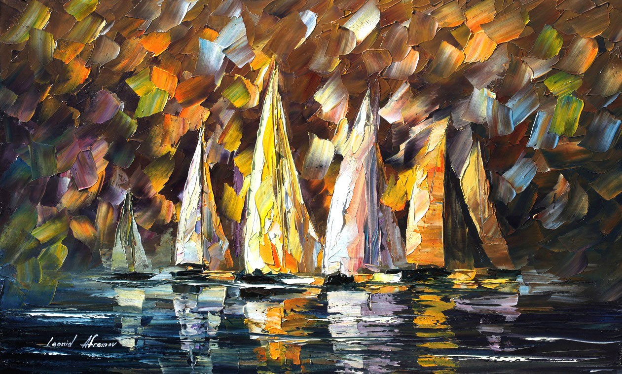 Modern impressionism palette knife oil painting kp092
