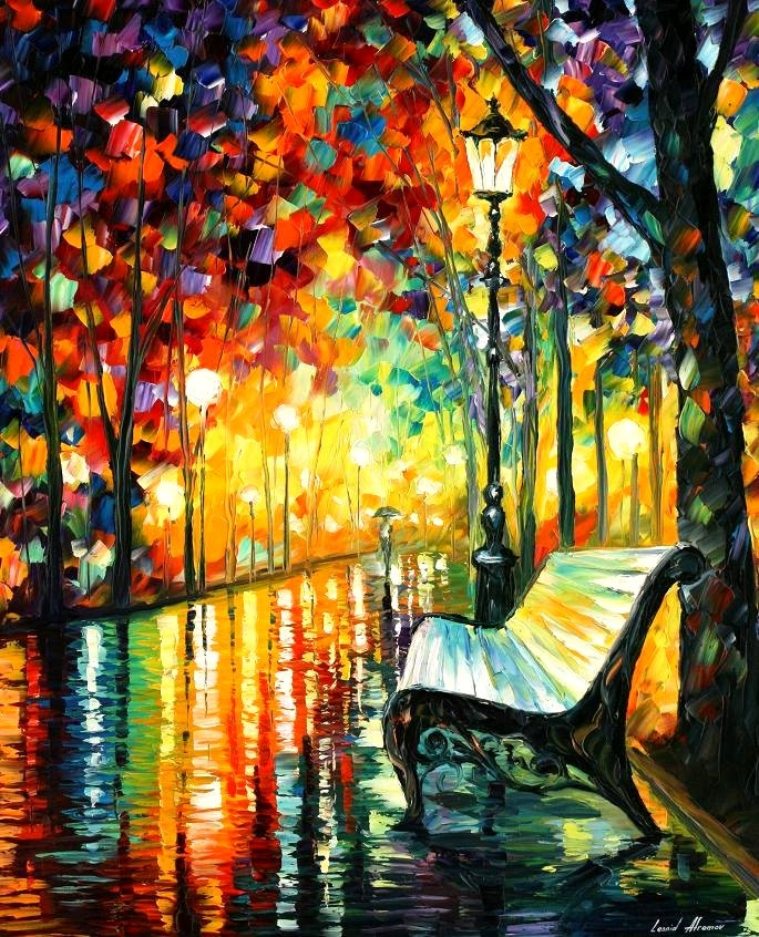 Modern impressionism palette knife oil painting kp101