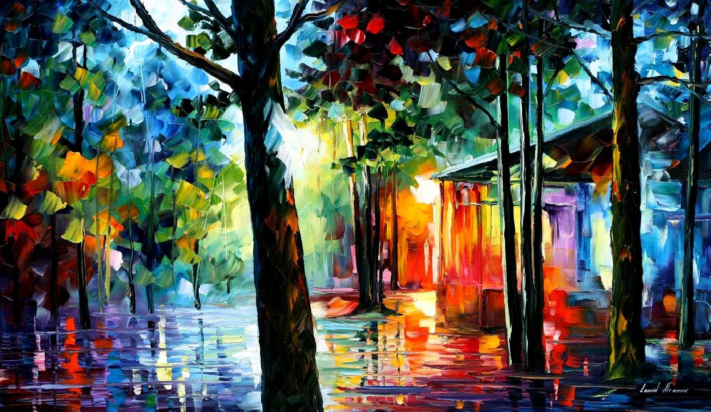 Modern impressionism palette knife oil painting kp109