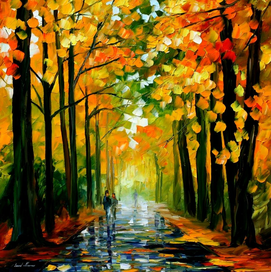 Modern impressionism palette knife oil painting kp113 ...