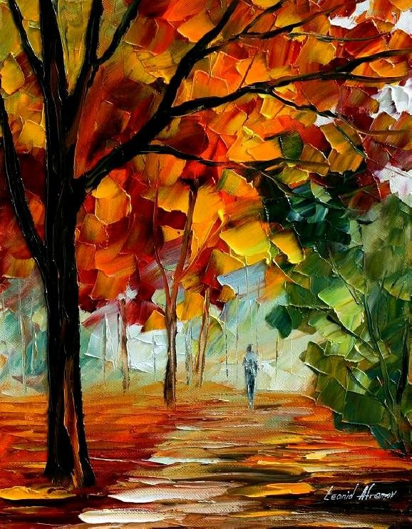 Modern impressionism palette knife oil painting kp114