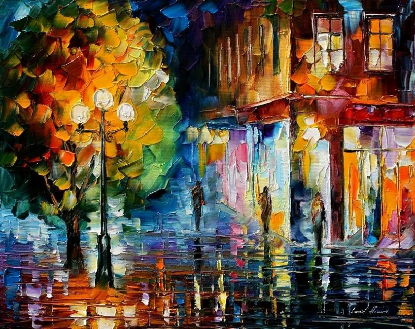 Modern impressionism palette knife oil painting kp115