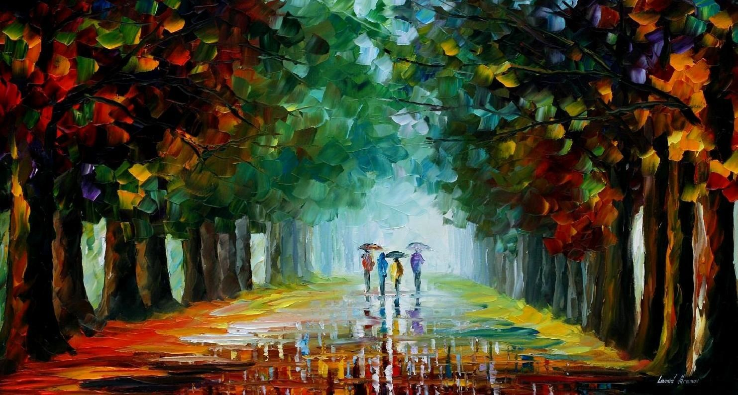 Modern impressionism palette knife oil painting kp121