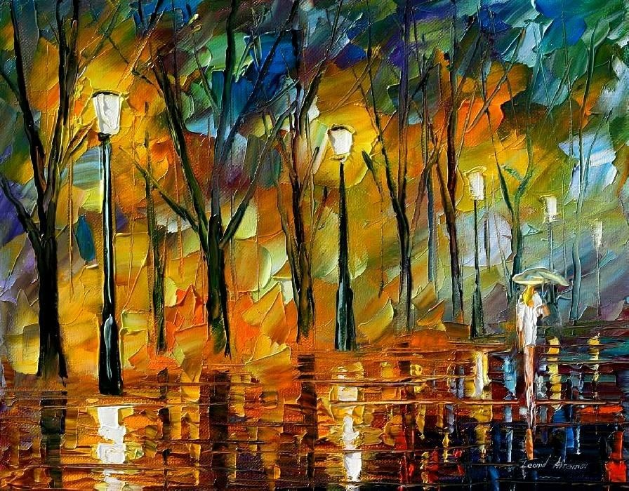 Modern impressionism palette knife oil painting kp132
