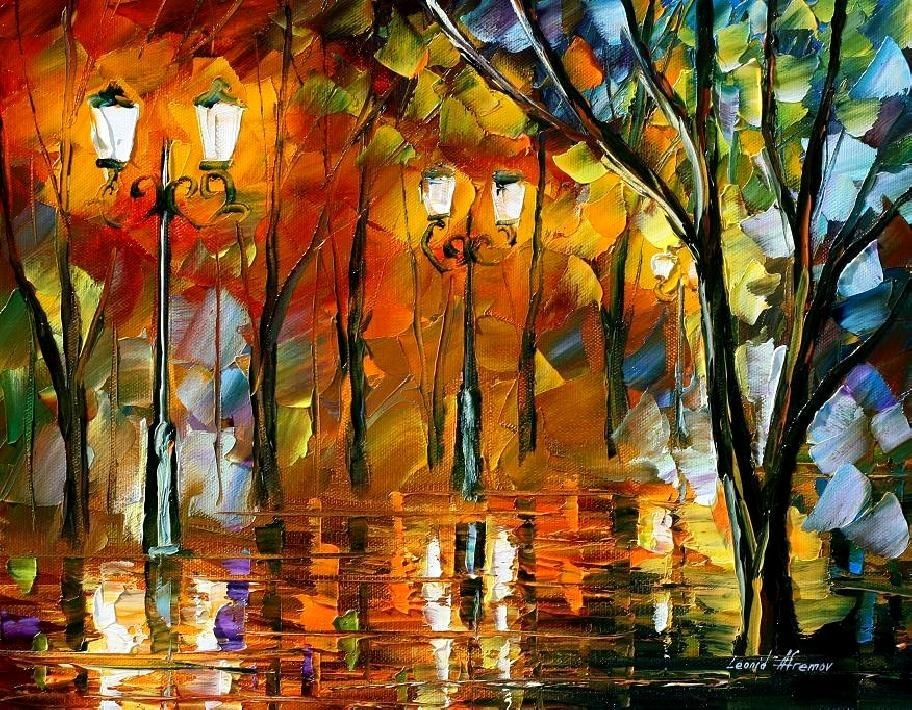 Modern impressionism palette knife oil painting kp135