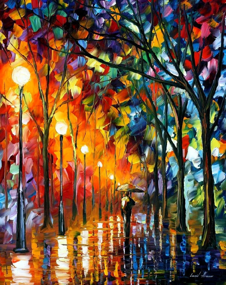 Modern impressionism palette knife oil painting kp147 for Best mural artists