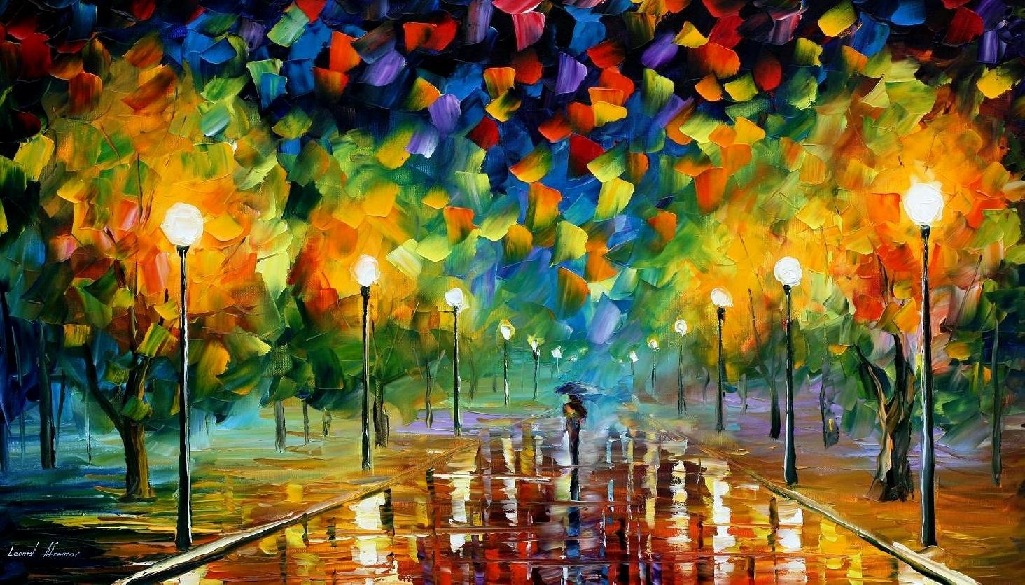 Modern impressionism palette knife oil painting kp150