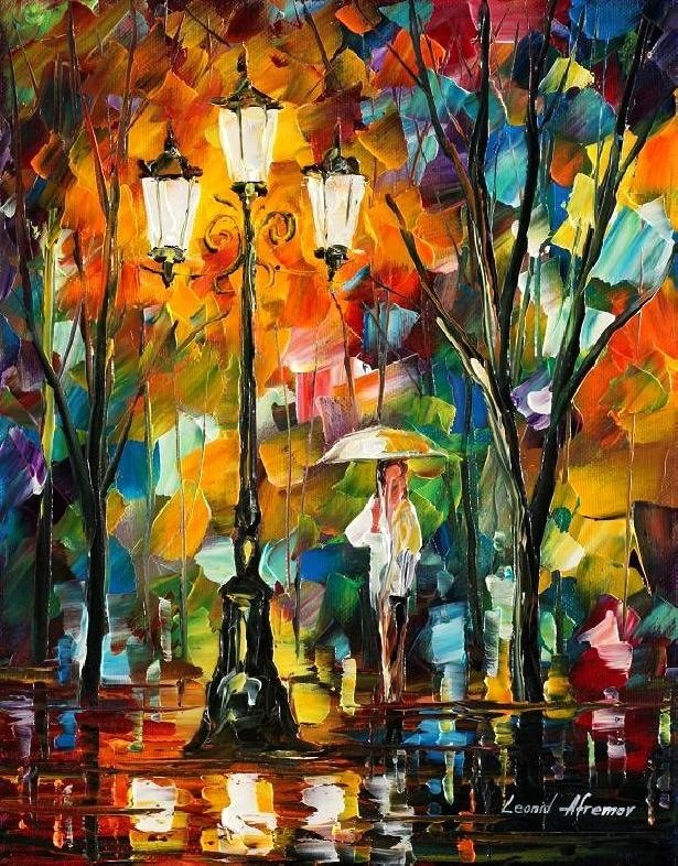 Modern impressionism palette knife oil painting kp151
