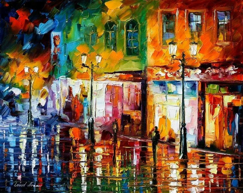 Modern impressionism palette knife oil painting kp154