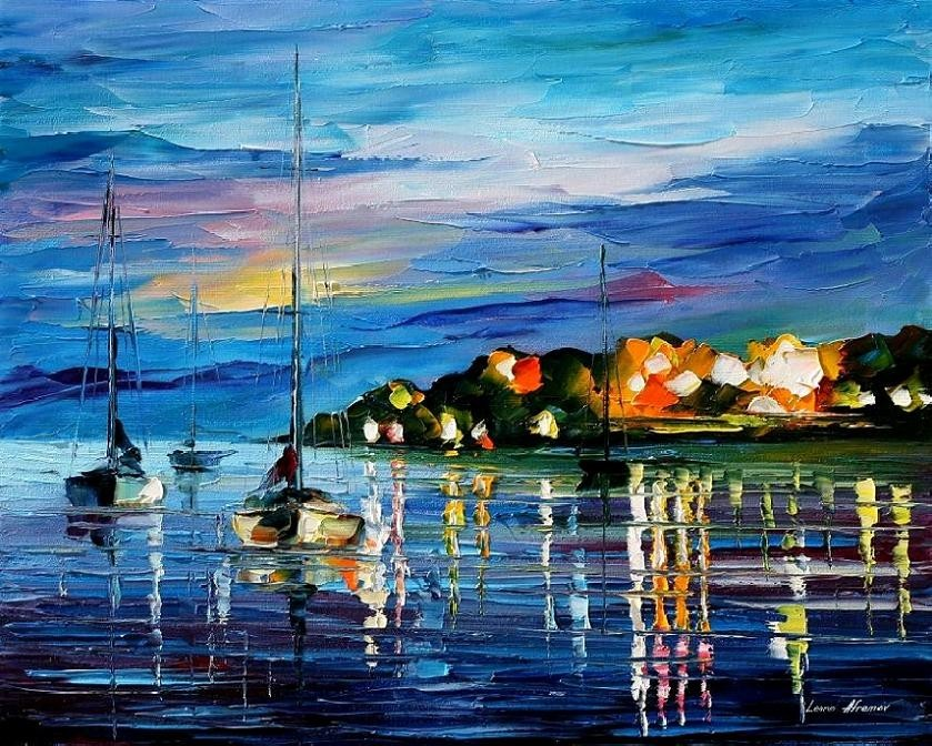 Modern impressionism palette knife oil painting kp159