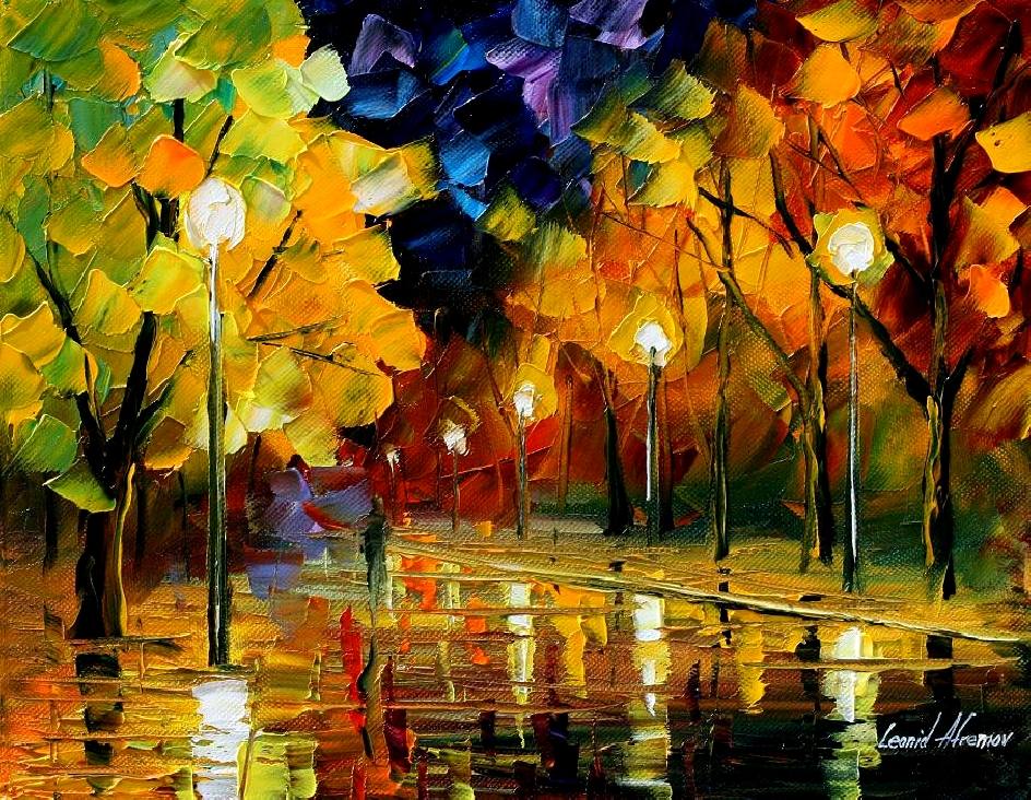 Modern impressionism palette knife oil painting kp165