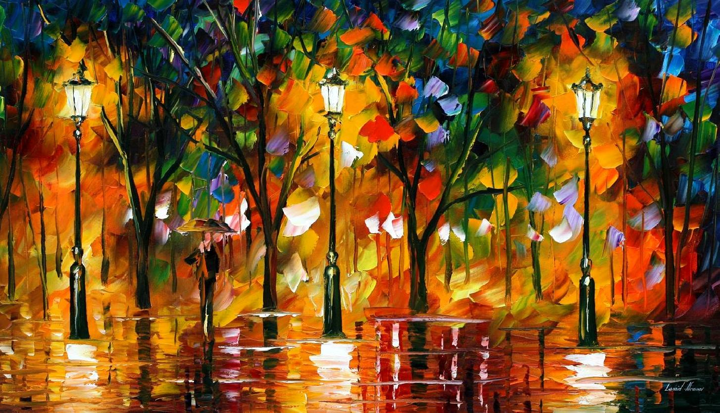 Modern impressionism palette knife oil painting kp171