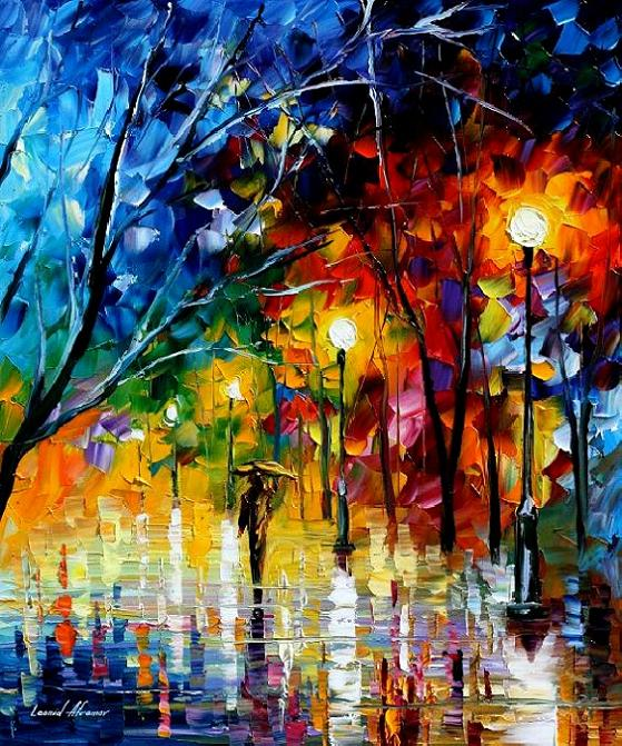 Modern impressionism palette knife oil painting kp172