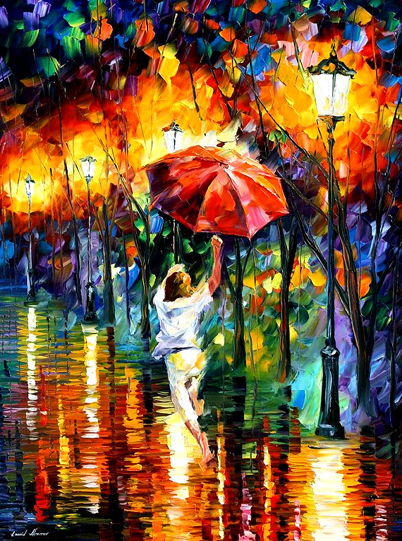 Palette-Knife-Painting - Colorful Portrait Painting Modern Palette Knife