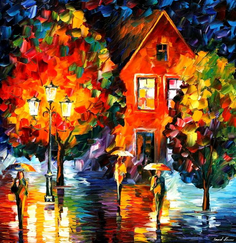 Modern impressionism palette knife oil painting kp194