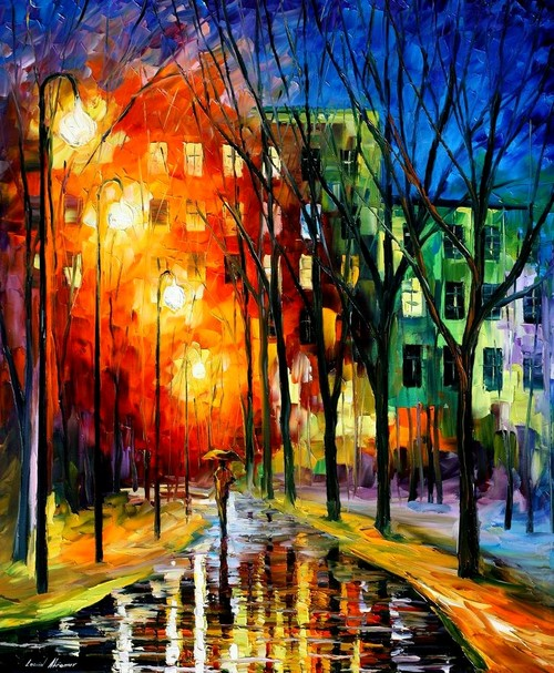 Modern impressionism palette knife oil painting kp196