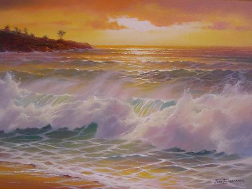 Dafen Oil Painting on canvas seacoast -sea005