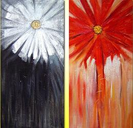 Dafen Oil Painting on canvas flower -set032