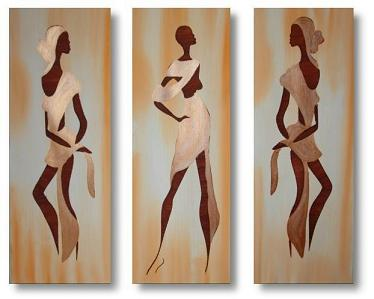 Dafen Oil Painting on canvas africa girl -set037