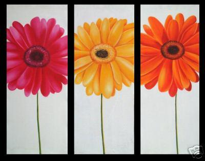 Dafen Oil Painting on canvas flowers -set048