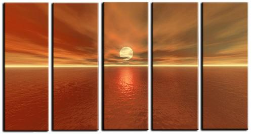 Dafen Oil Painting on canvas seascape -set071