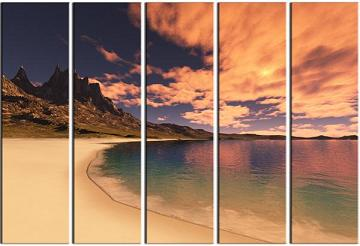 Dafen Oil Painting on canvas seascape -set088