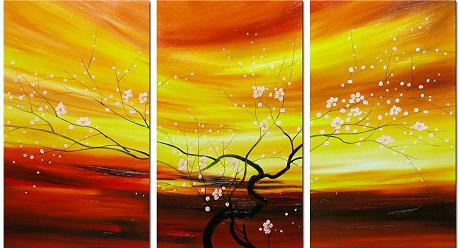 Dafen Oil Painting on canvas the flowers -set089