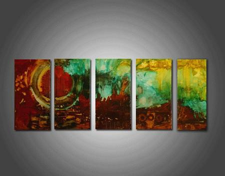 Dafen Oil Painting on canvas abstract -set094