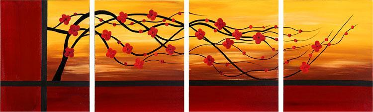 Dafen Oil Painting on canvas flower -set095