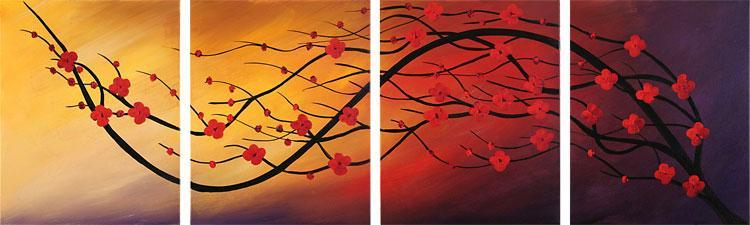 Dafen Oil Painting on canvas flower -set101