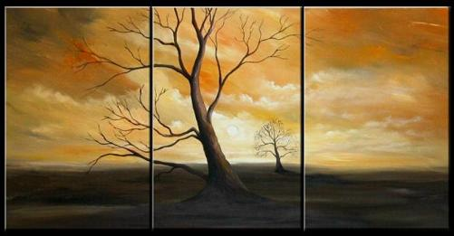 Dafen Oil Painting on canvas tree -set105