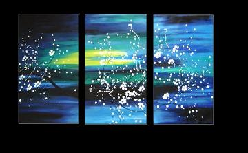 Dafen Oil Painting on canvas flowers -set112