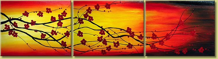 Dafen Oil Painting on canvas flower -set118