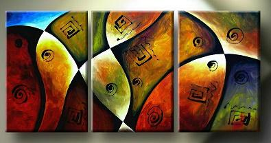 Dafen Oil Painting on canvas abstract -set137