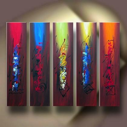 Dafen Oil Painting on canvas abstract -set139