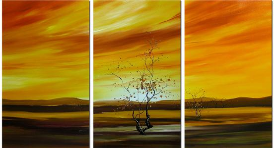 Dafen Oil Painting on canvas tree -set140