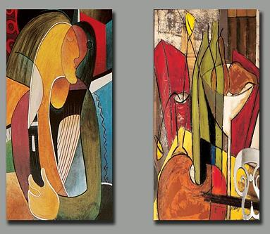 Dafen Oil Painting on canvas abstract-set158